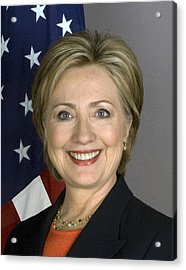 Hillary Clinton Acrylic Print by War Is Hell Store