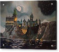 Hogwart's Castle Acrylic Print by Tim Loughner