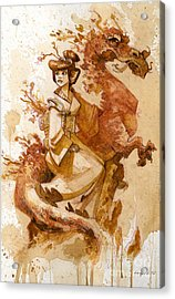 Honor And Grace Acrylic Print by Brian Kesinger