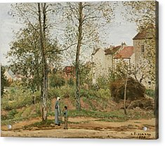 Houses At Bougival  Acrylic Print by Camille Pissarro