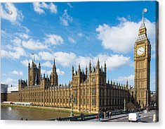 Houses Of Parliament In London Acrylic Print by AMB Fine Art Photography