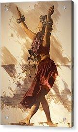 Hula On The Beach Acrylic Print by Himani - Printscapes
