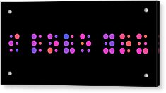 I Love You - Braille Acrylic Print by Michael Tompsett