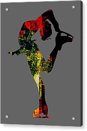 Ice Skating Collection Acrylic Print by Marvin Blaine