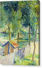 In The Garden Acrylic Print by Hippolyte Petitjean