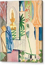 In The Temple Hall Acrylic Print by August Macke