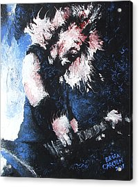 James Hetfield Acrylic Print by Brian Carlton
