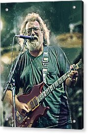 Jerry Garcia  Acrylic Print by Afterdarkness
