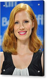 Jessica Chastain At The Press Acrylic Print by Everett