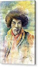 Jimi Hendrix 01 Acrylic Print by Yuriy Shevchuk