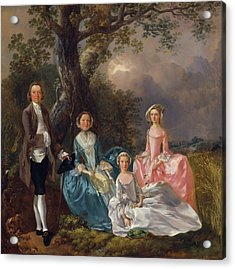 John And Ann Gravenor With Their Daughters Acrylic Print by Thomas Gainsborough
