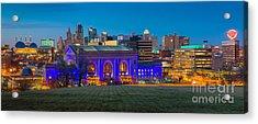 Kansas City Panorama Acrylic Print by Inge Johnsson