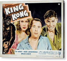King Kong, Fay Wray, Robert Armstrong Acrylic Print by Everett