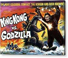 King Kong Vs. Godzilla, Poster Art Acrylic Print by Everett
