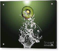 Kiwi Splash Acrylic Print by Marvin Blaine