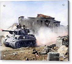 Korean War: Tank, 1951 Acrylic Print by Granger
