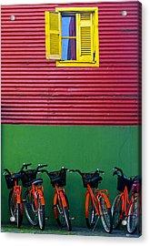 La Boca Acrylic Print by Kobby Dagan