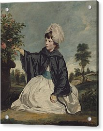 Lady Caroline Howard Acrylic Print by Sir Joshua Reynolds