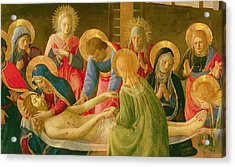 Lamentation Over The Dead Christ Acrylic Print by Fra Angelico