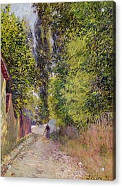 Landscape Near Louveciennes Acrylic Print by Alfred Sisley