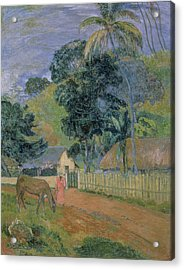 Landscape Acrylic Print by Paul Gauguin