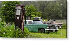 Last Chance For Gas  Acrylic Print by Bill Cannon