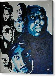 Legends Together Acrylic Print by Matt Burke
