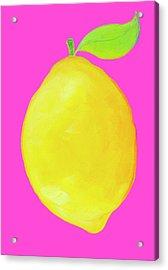 Lemon  Acrylic Print by Jan Matson