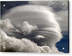Lenticular Clouds Acrylic Print by Donna Kennedy