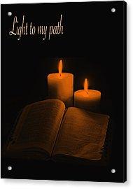 Light To My Path Acrylic Print by Art Spectrum