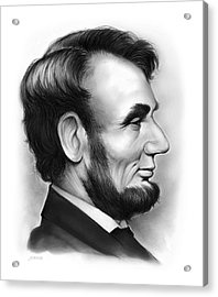 Lincoln Acrylic Print by Greg Joens