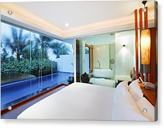 Luxury Bedroom Acrylic Print by Setsiri Silapasuwanchai