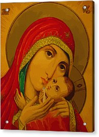 Madonna And Child Acrylic Print by Christian Art