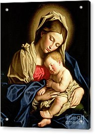 Madonna And Child Acrylic Print by Il Sassoferrato