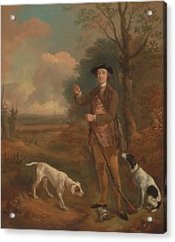 Major John Dade Of Tannington Suffolk Acrylic Print by Thomas Gainsborough