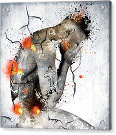Male Nude  Acrylic Print by Mark Ashkenazi