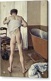 Man At His Bath Acrylic Print by Gustave Caillebotte