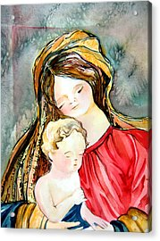 Mary And Baby Jesus Acrylic Print by Mindy Newman