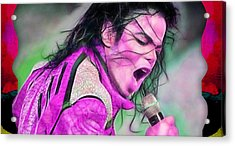 Michael Jackson Collection Acrylic Print by Marvin Blaine