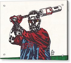 Mike Napoli 2 Acrylic Print by Jeremiah Colley