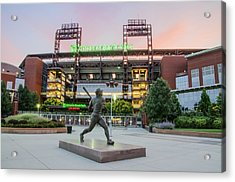 Mike Schmidt At Bat  Acrylic Print by Bill Cannon