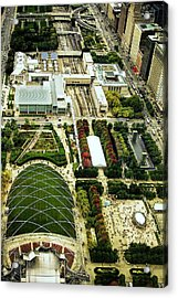 Millennium Park In Chicago Acrylic Print by Andrew Soundarajan