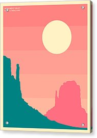 Monument Valley, Navajo Tribal Park Acrylic Print by Jazzberry Blue