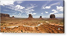 Monument Valley Wide Angle Acrylic Print by Ryan Kelly