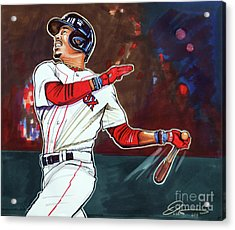 Mookie Betts Acrylic Print by Dave Olsen