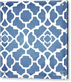 Moroccan Blues Acrylic Print by Mindy Sommers