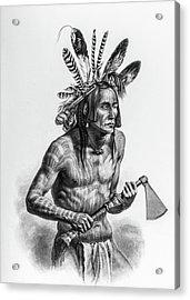 Native American Warrior Acrylic Print by Douglas Barnett