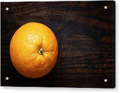 Naval Oranges On Wood Background Acrylic Print by Donald Erickson