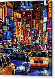 New York City Acrylic Print by Debra Hurd
