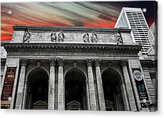 New York Public Library Acrylic Print by Martin Newman